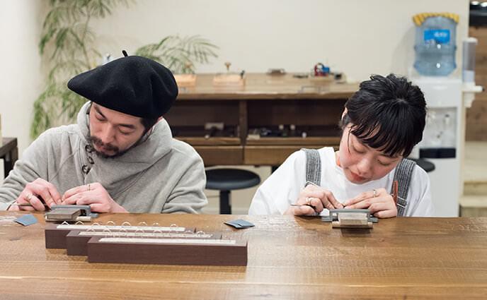 鎌倉彫金工房 手作りリング