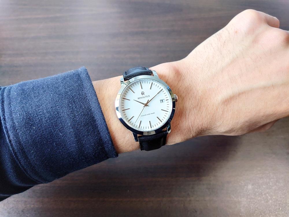 RENAUTUS ルノータス(クラシッククォーツ40mm)腕時計「着用」5