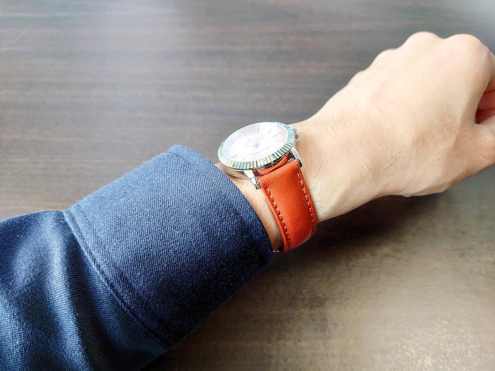 RENAUTUS ルノータス(クラシッククォーツ34mm)腕時計「着用」2