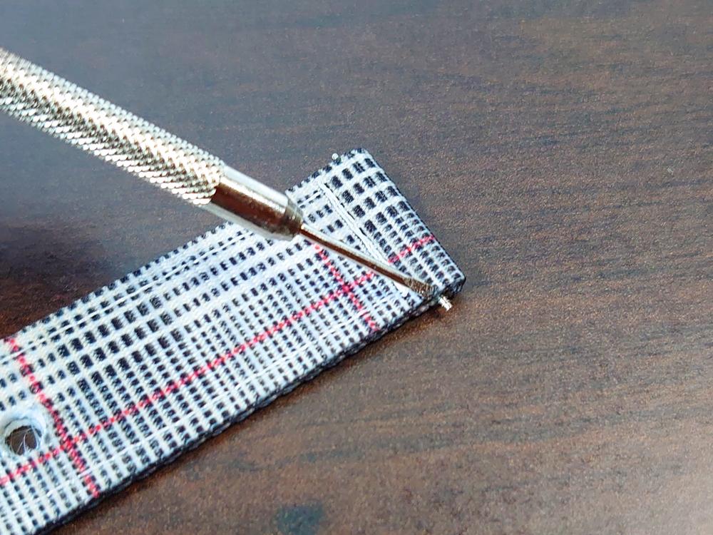 ルノータス 交換用ストラップ ナイロン グレンチェック 交換専用工具