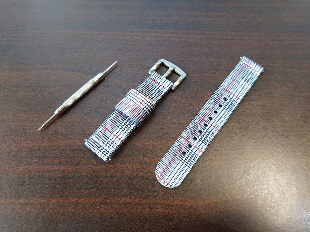 ルノータス 交換用ストラップ ナイロン グレンチェック 専用工具付き