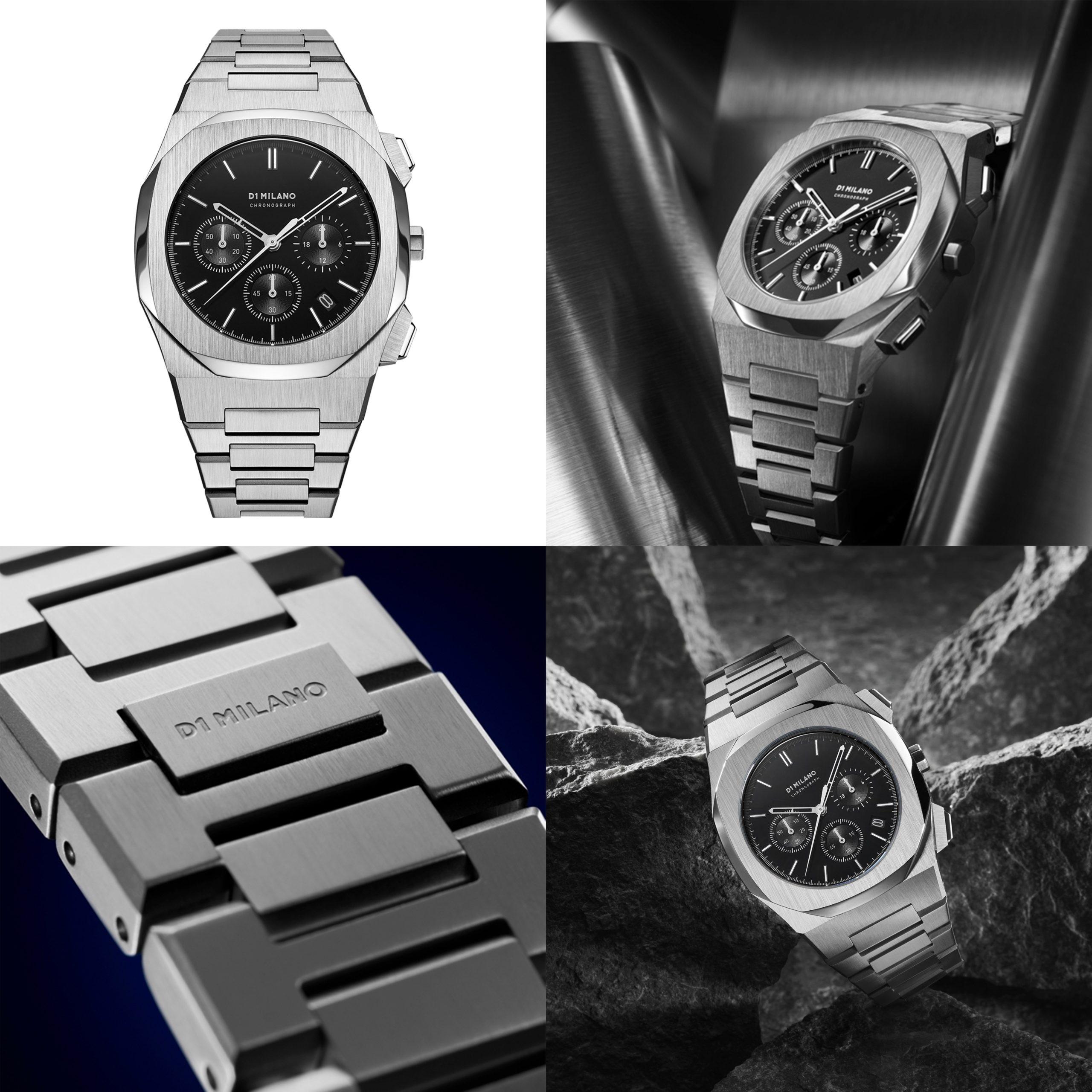 D1 MILANO ディーワンミラノ D1 MILANO Chronograph Black with Stainless Steel Bracelet 商品番号 chbj01
