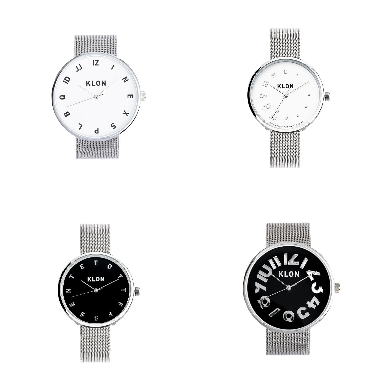KLON ステンレスメッシュベルト 腕時計