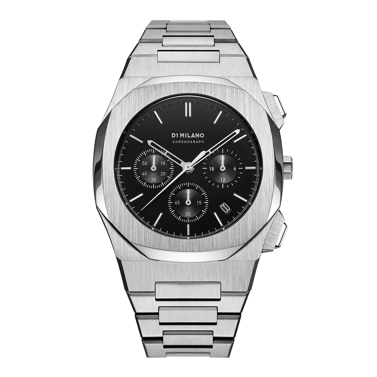 D1 MILANO ディーワンミラノ D1 MILANO Chronograph Black with Stainless Steel Bracelet