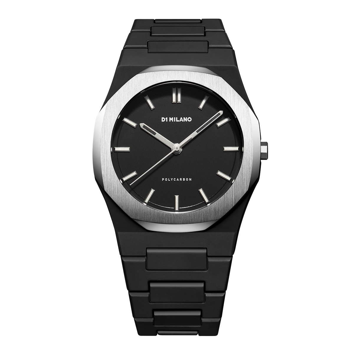 D1 MILANO D1 MILANO New Polycarbon Silver Case with Bracelet