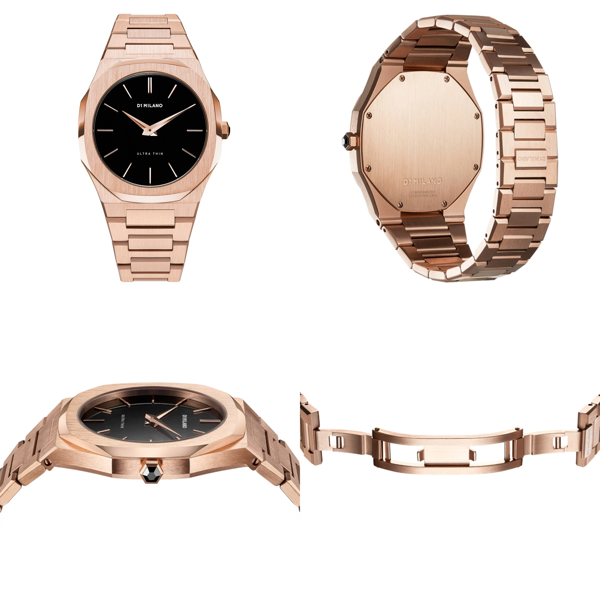 D1 MILANO Ultra Thin Rose Gold Case with Rose Gold Bracelet
