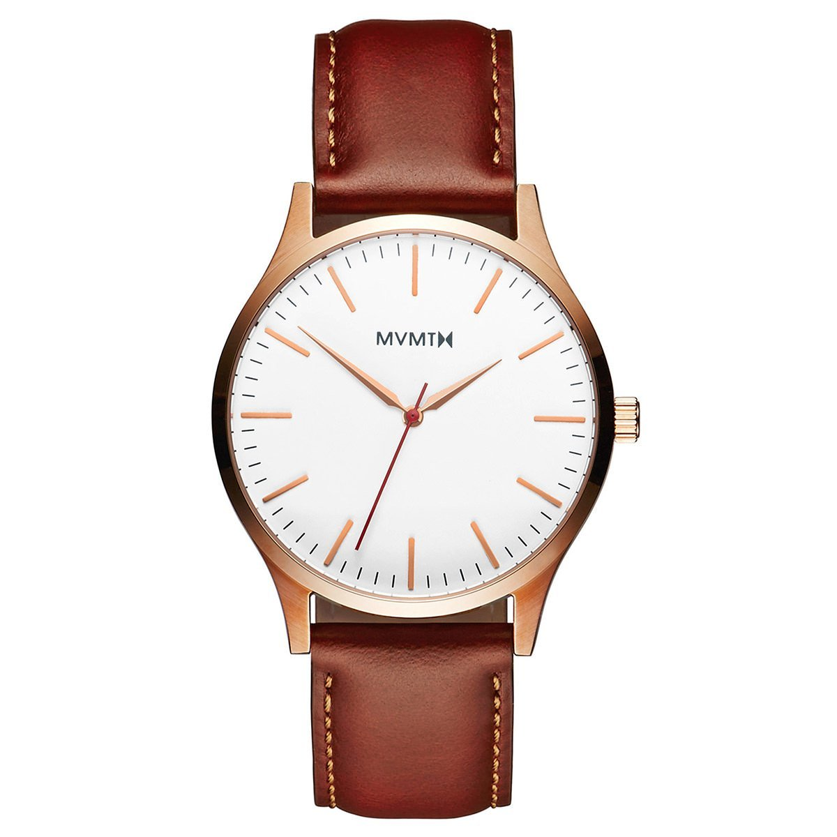 MVMT 40 SERIES - 40MM The 40 - Rose Gold Natural Tan