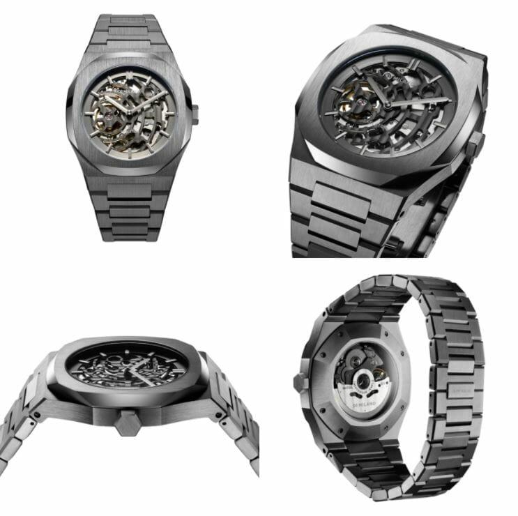 D1 MILANO ディーワンミラノ D1 MILANO P701 Automatic Skeleton Watch IP Gun Case with Gun Bracelet 商品番号skbj02