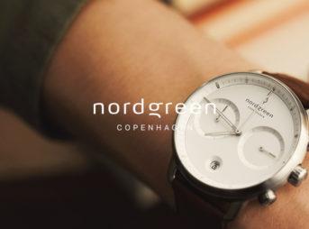 Nordgreen ノードグリーン Pioneer パイオニア シルバー ホワイトダイアル ブラウンレザー