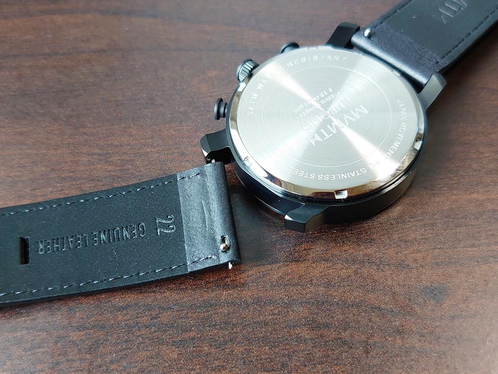 MVMT CHRONO BLACK LEATHER 45mm ムーブメント クロノ ブラックレザー ベルトレバーピン