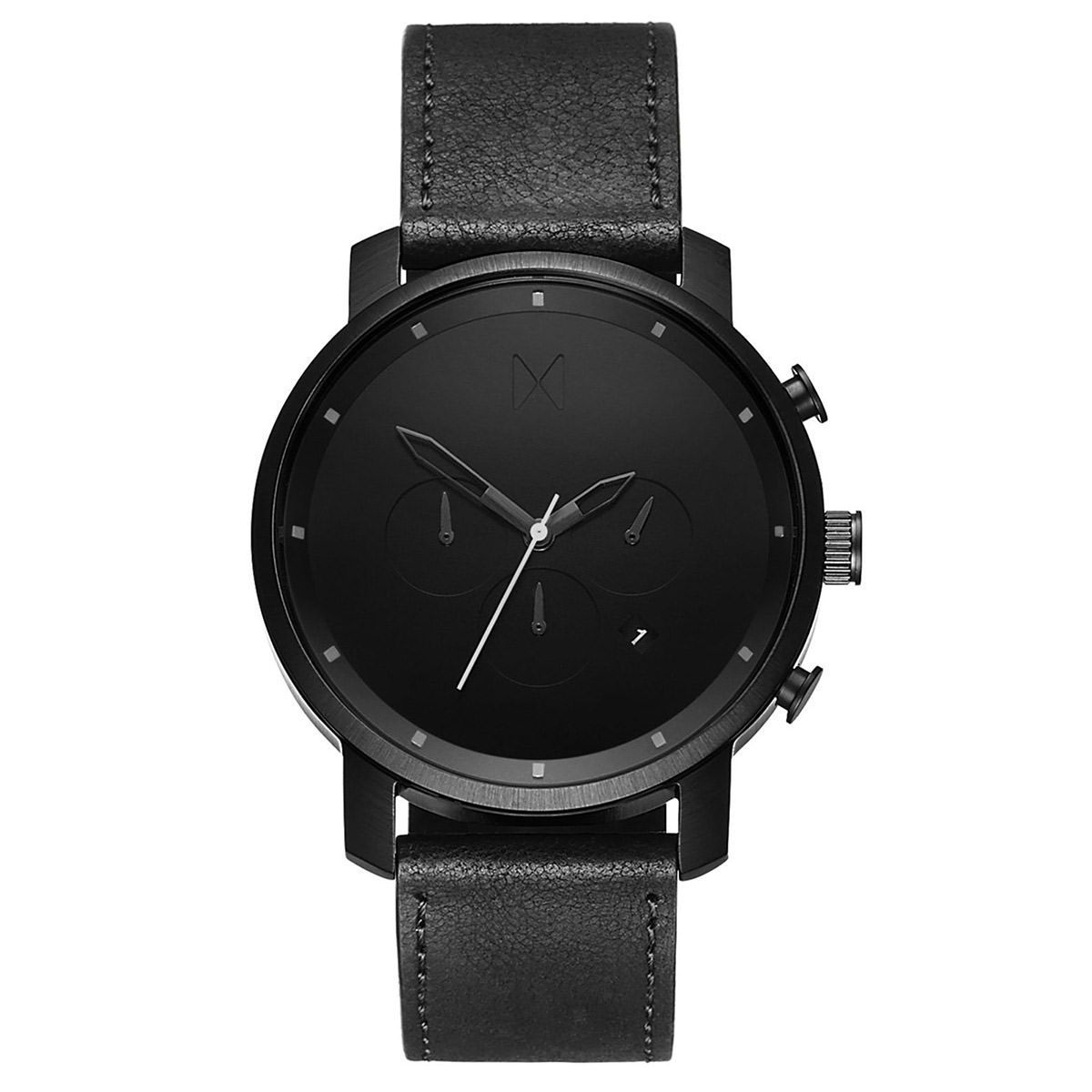 MVMT Chrono - 45mm Chrono Black Leather