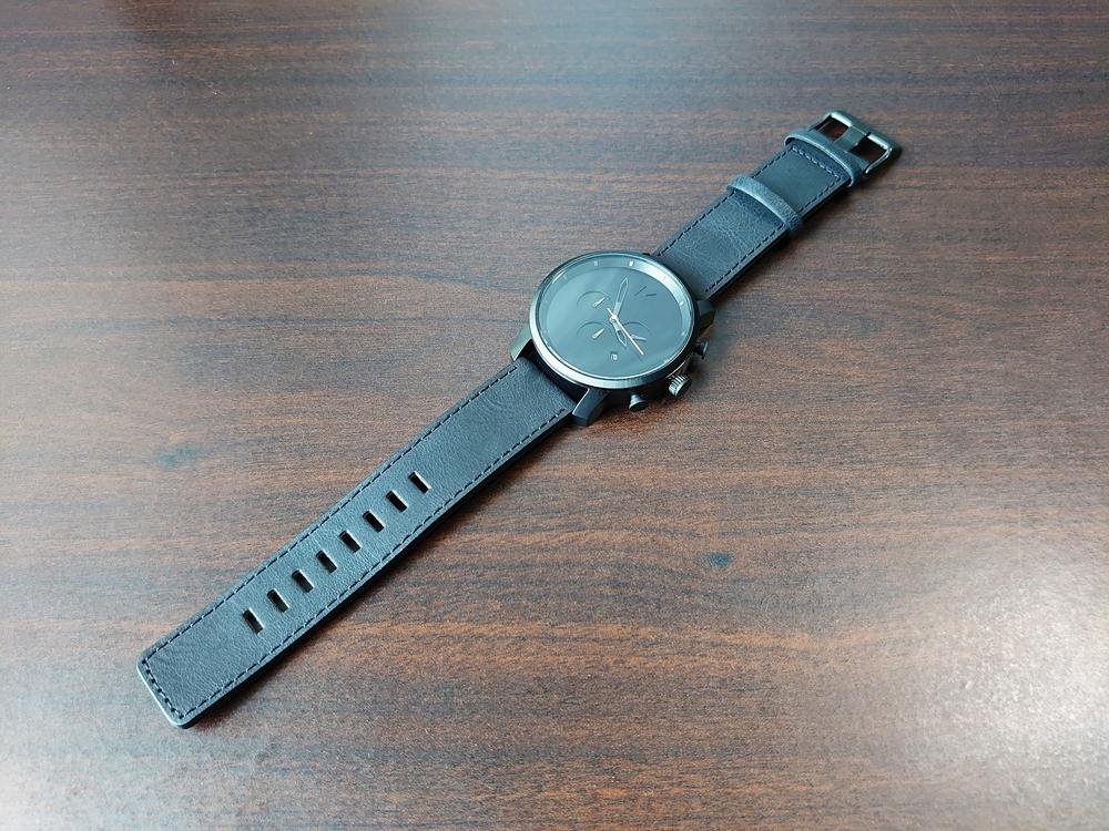 MVMT CHRONO BLACK LEATHER 45mm ムーブメント クロノ ブラックレザー 45mmケース