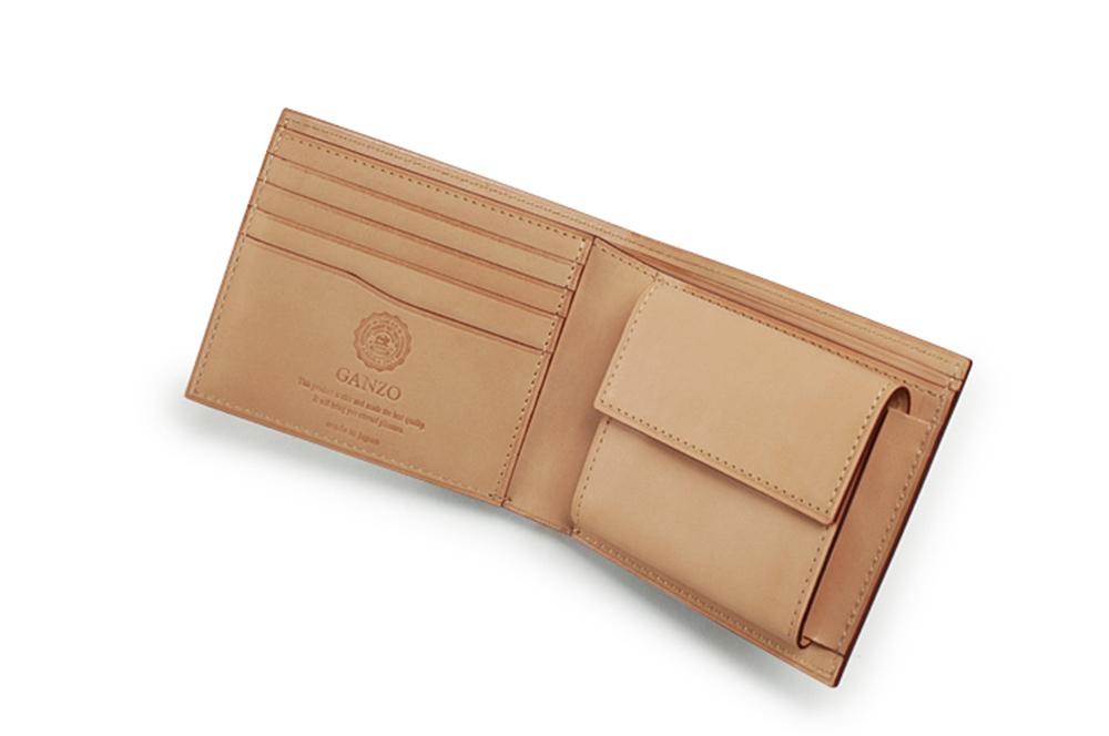 GANZO(ガンゾ)CORDOVAN (コードバン) 小銭入れ付き二つ折り財布