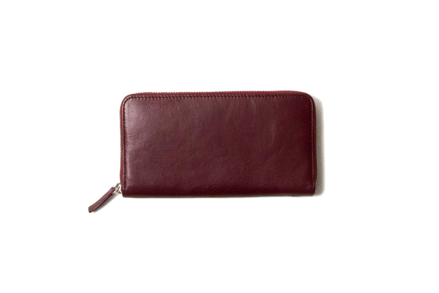 ダークレッド Business Leather Factory(ビジネスレザーファクトリー) 長財布(ラウンドファスナー)