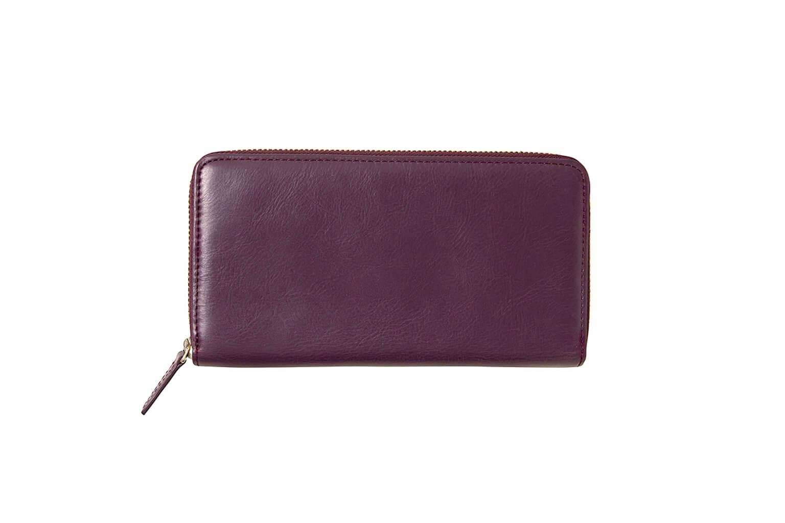 クラシックパープル Business Leather Factory(ビジネスレザーファクトリー) 長財布(ラウンドファスナー)