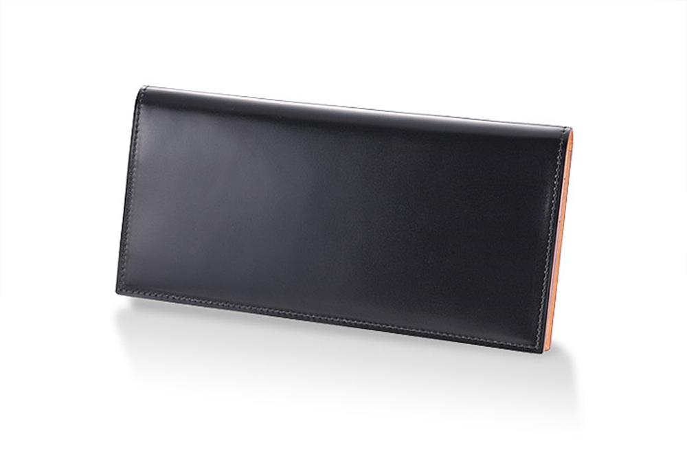 GANZO(ガンゾ)CORDOVAN (コードバン) 通しマチ長財布 ブラック
