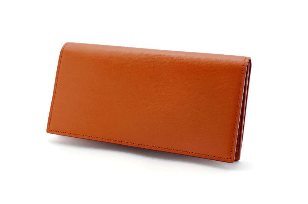 GANZO(ガンゾ)GLAZING CALF (グレージングカーフ)ファスナー小銭入れ付き長財布 ブラウン