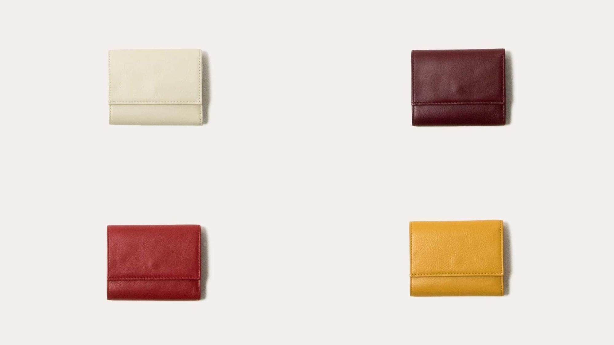 三つ折り財布 レディースカラー Business Leather Factory(ビジネスレザーファクトリー)