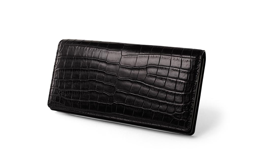 GANZO(ガンゾ)SMALL CROCO (スモールクロコ)長財布 ブラック