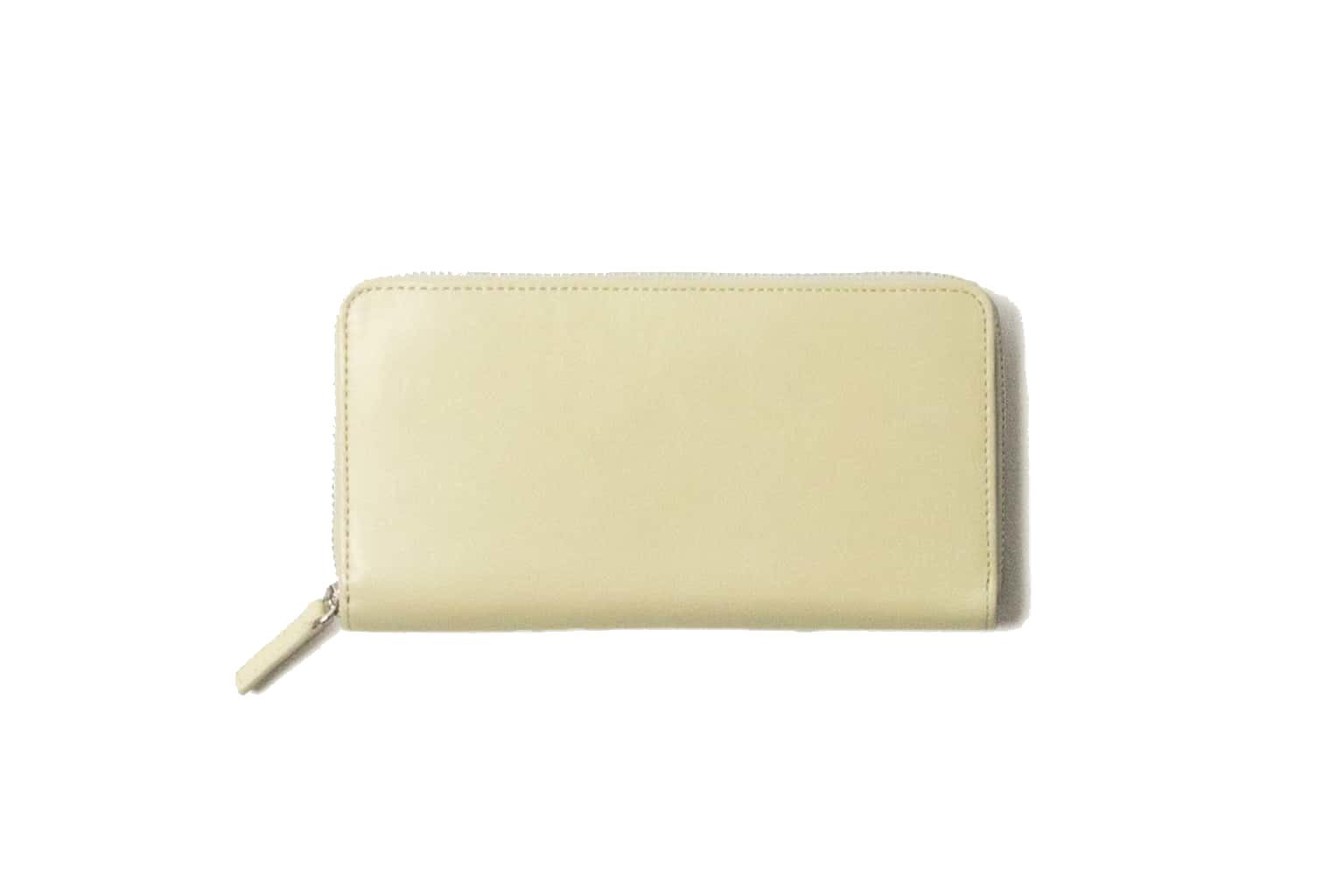 ホワイトベージュ Business Leather Factory(ビジネスレザーファクトリー) 長財布(ラウンドファスナー)