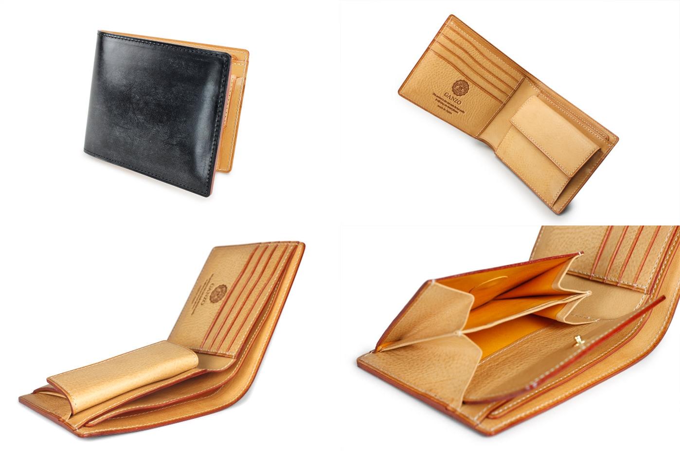 GANZO ガンゾ THIN BRIDLE(シンブライドル) 小銭入れ付き二つ折り財布 デザイン