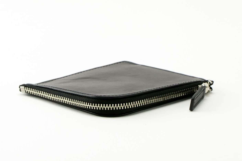 L字ファスナー財布 ブラック Business Leather Factory(ビジネスレザーファクトリー)