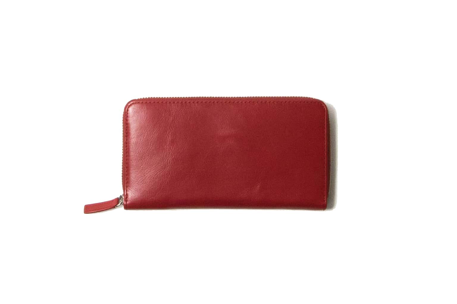 ロイヤルレッド Business Leather Factory(ビジネスレザーファクトリー) 長財布(ラウンドファスナー)