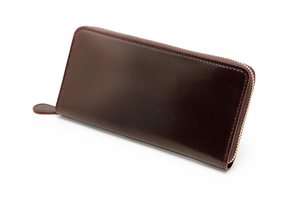 GANZO(ガンゾ)SHELL CORDOVAN 2 (シェルコードバン2)ラウンドファスナー長財布 バーガンディ