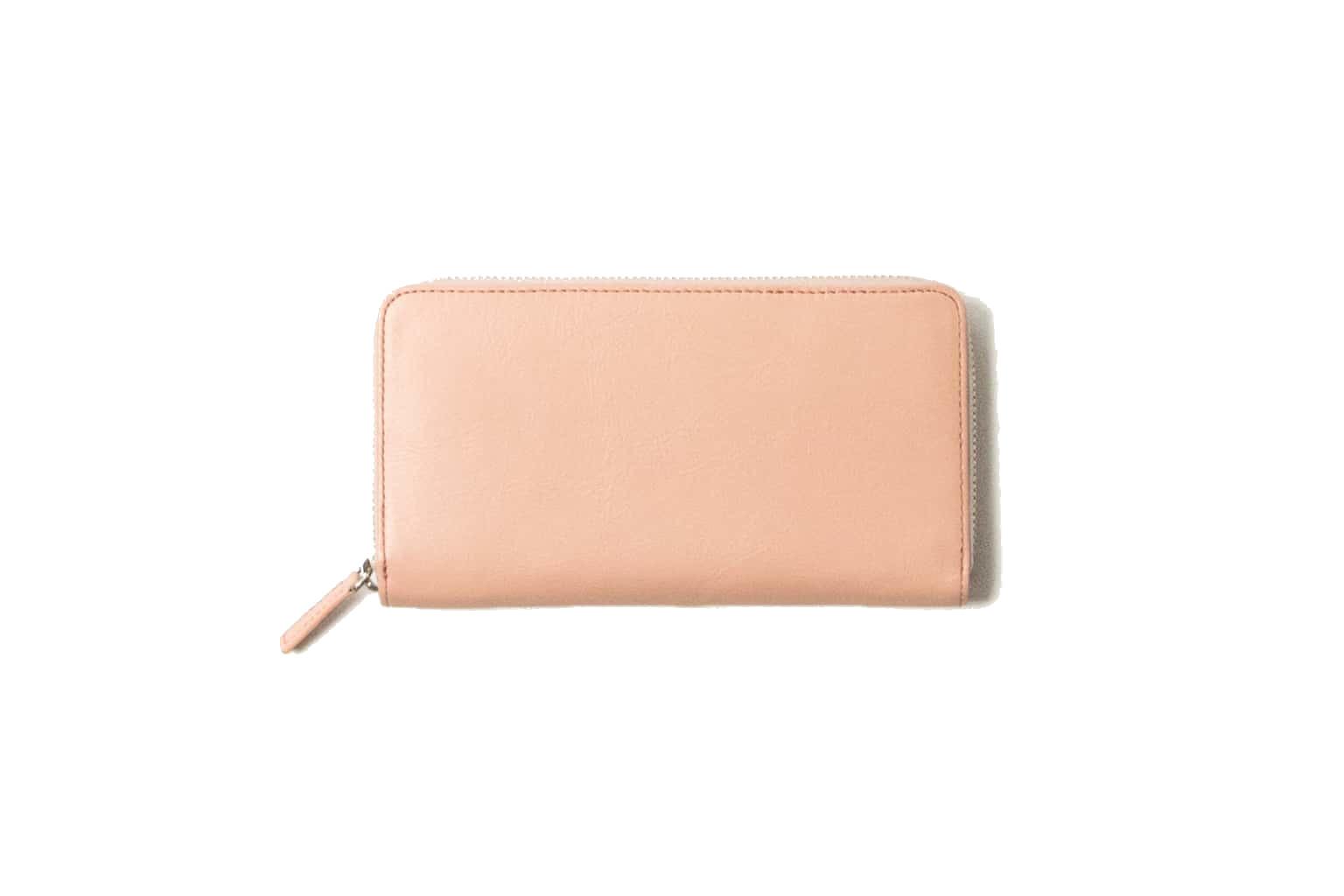 サクラピンク Business Leather Factory(ビジネスレザーファクトリー) 長財布(ラウンドファスナー)