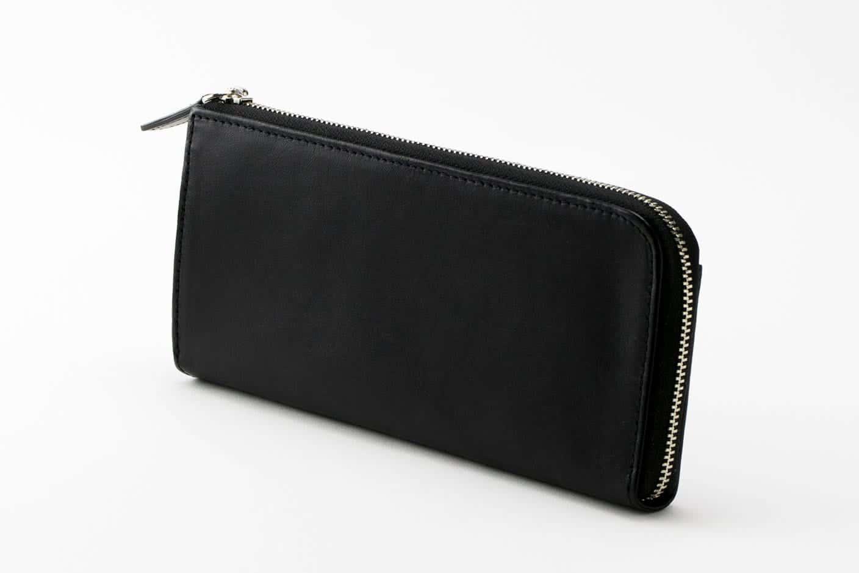 L字長財布 ブラック Business Leather Factory(ビジネスレザーファクトリー)