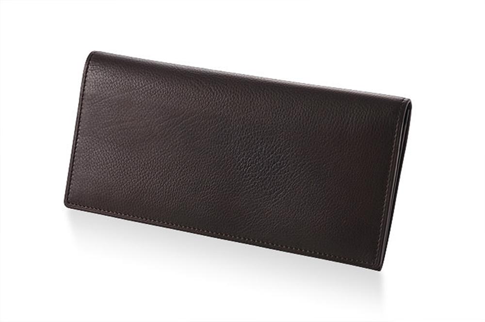 GANZO(ガンゾ)CALF DEER2 (カーフディア2)長財布(ササマチ) ダークブラウン