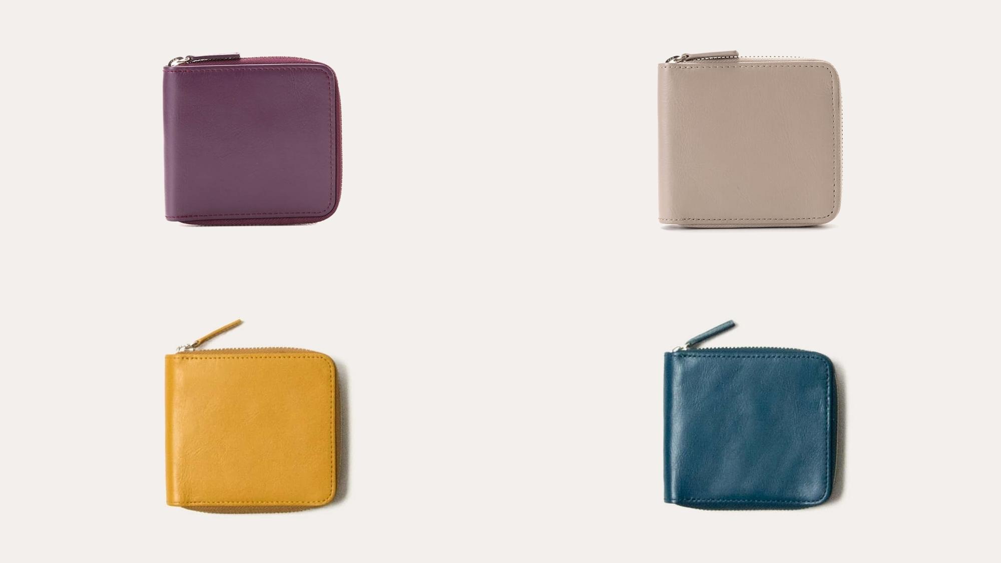 ラウンド二つ折り財布 レディースカラー Business Leather Factory(ビジネスレザーファクトリー)