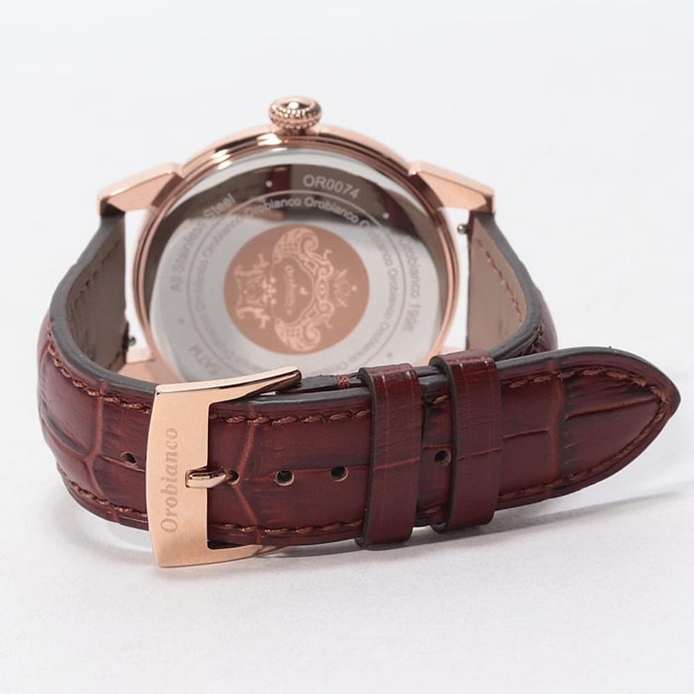 オロビアンコ 腕時計 ベルト 型押しレザー
