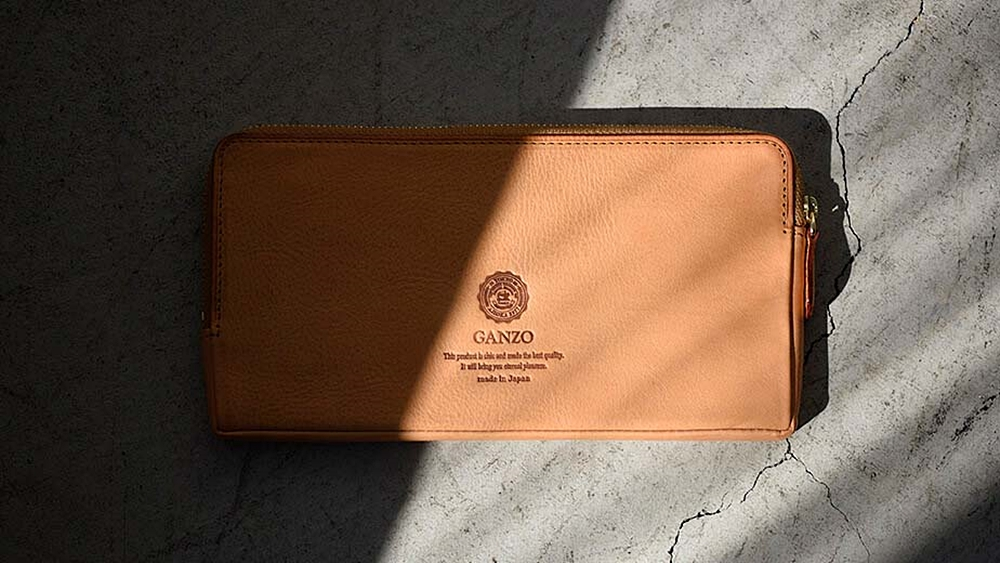 GANZO ガンゾ Minerva Natural (ミネルバナチュラル)ファスナー長財布