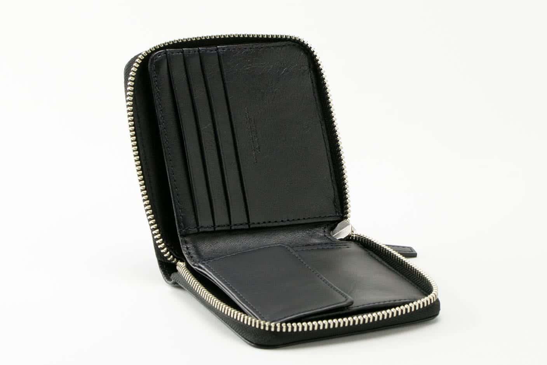 ラウンド二つ折り財布 ブラック オープン Business Leather Factory(ビジネスレザーファクトリー)