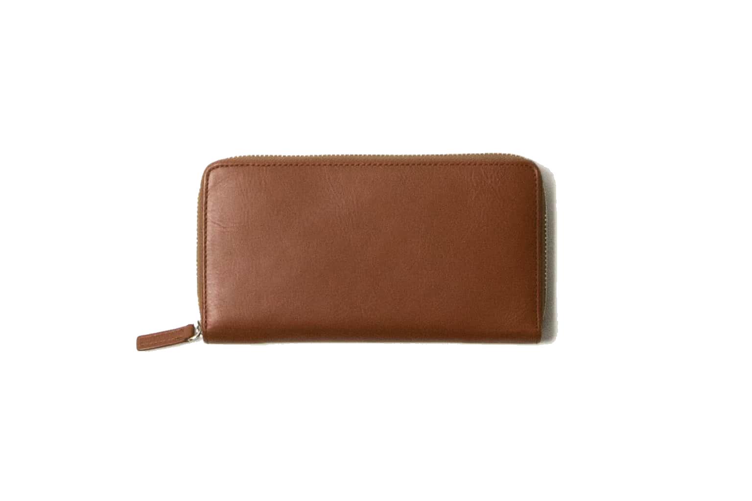 キャメルブラウン Business Leather Factory(ビジネスレザーファクトリー) 長財布(ラウンドファスナー)