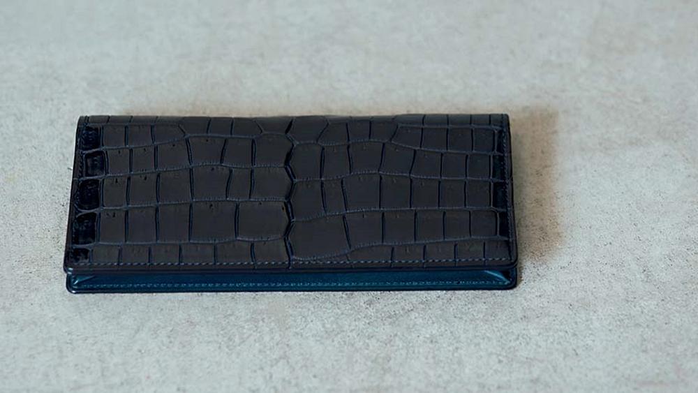 GANZO ガンゾ 国産最高級ブランド財布 スモールクロコ長財布