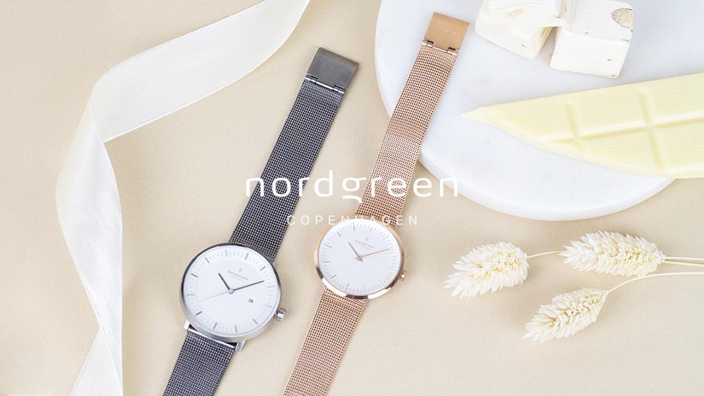 Nordgreen ノードグリーン 腕時計 フィロソファ(ガンメタル) インフィニティ(ローズゴールド)