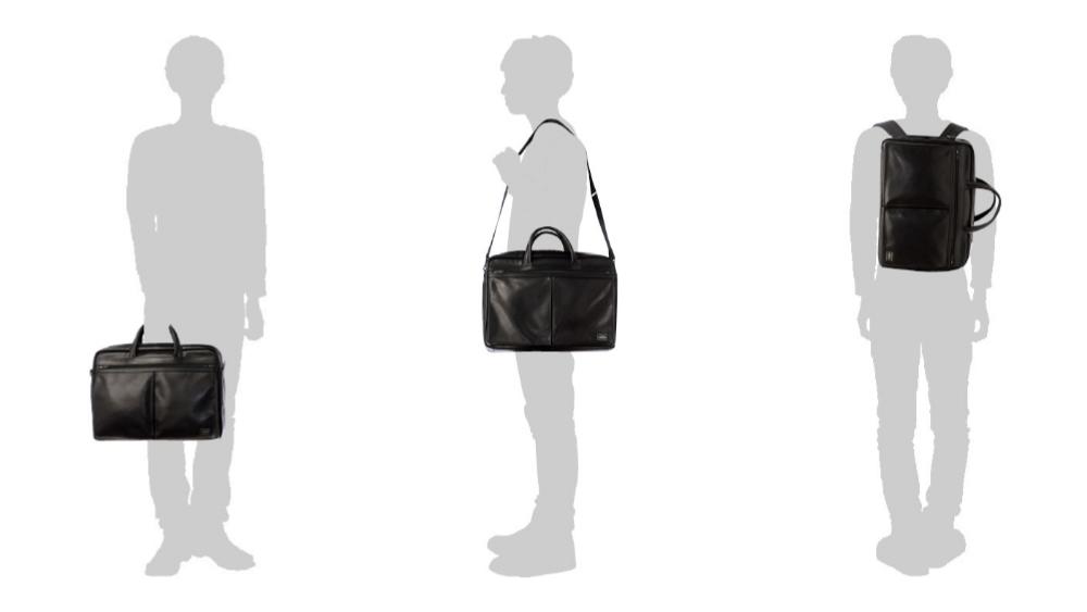 3WAYとは①手に持つ、②肩に掛ける、③背負うという3つの役割を果たすバッグ