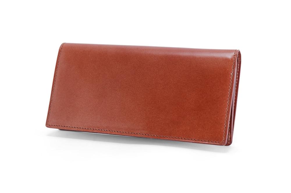 GANZO(ガンゾ)CORDOVAN LUCIDA (コードバンルチダ) ファスナー付きコンパクト長財布 ベーゼル