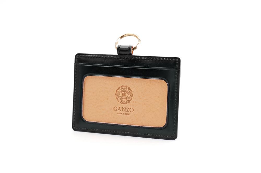 GANZO(ガンゾ) THIN BRIDLE (シンブライドル) IDケース ブラック