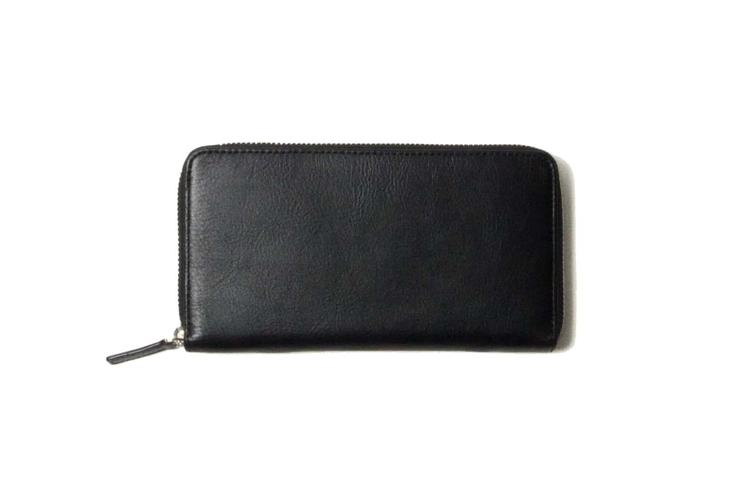 ブラック Business Leather Factory(ビジネスレザーファクトリー) 長財布(ラウンドファスナー)