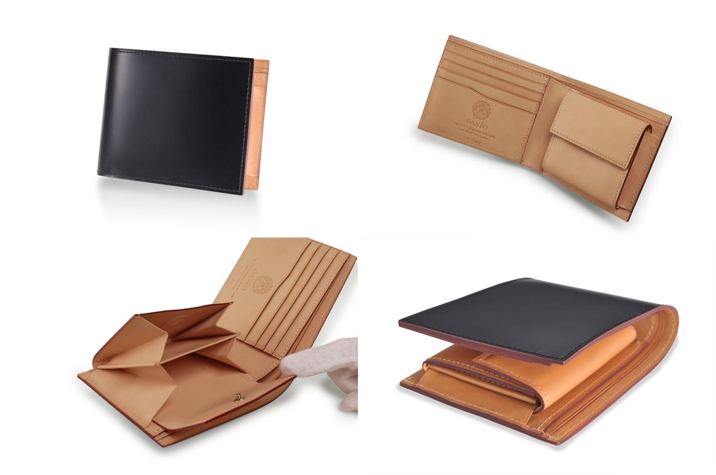 GANZO ガンゾ CORDOVAN (コードバン) 小銭入れ付き二つ折り財布 デザイン