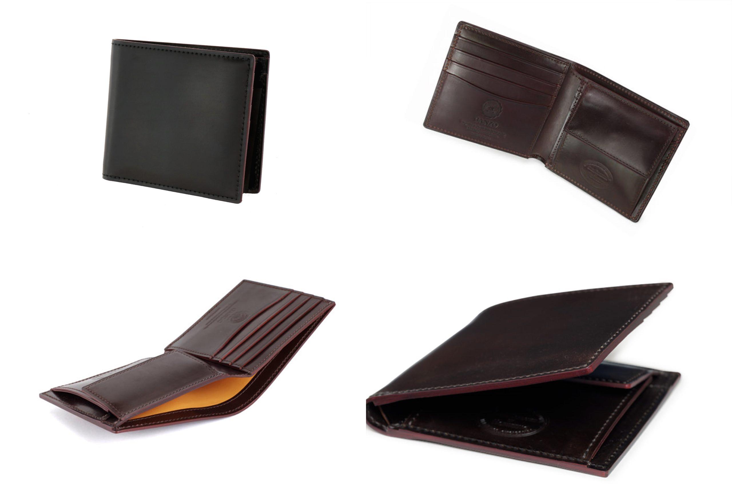 GANZO ガンゾ SHELL CORDOVAN 2(シェルコードバン2) 小銭入れ付き二つ折り財布 デザイン