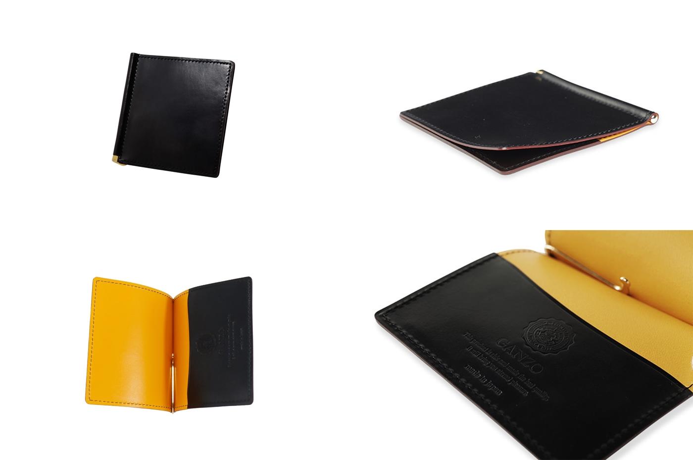 GANZO ガンゾ SHELL CORDOVAN 2 (シェルコードバン2)マネークリップ ブラック デザイン