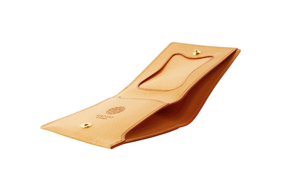 GANZO(ガンゾ)MINERVA NATURAL (ミネルバナチュラル)コンパクト二つ折り財布