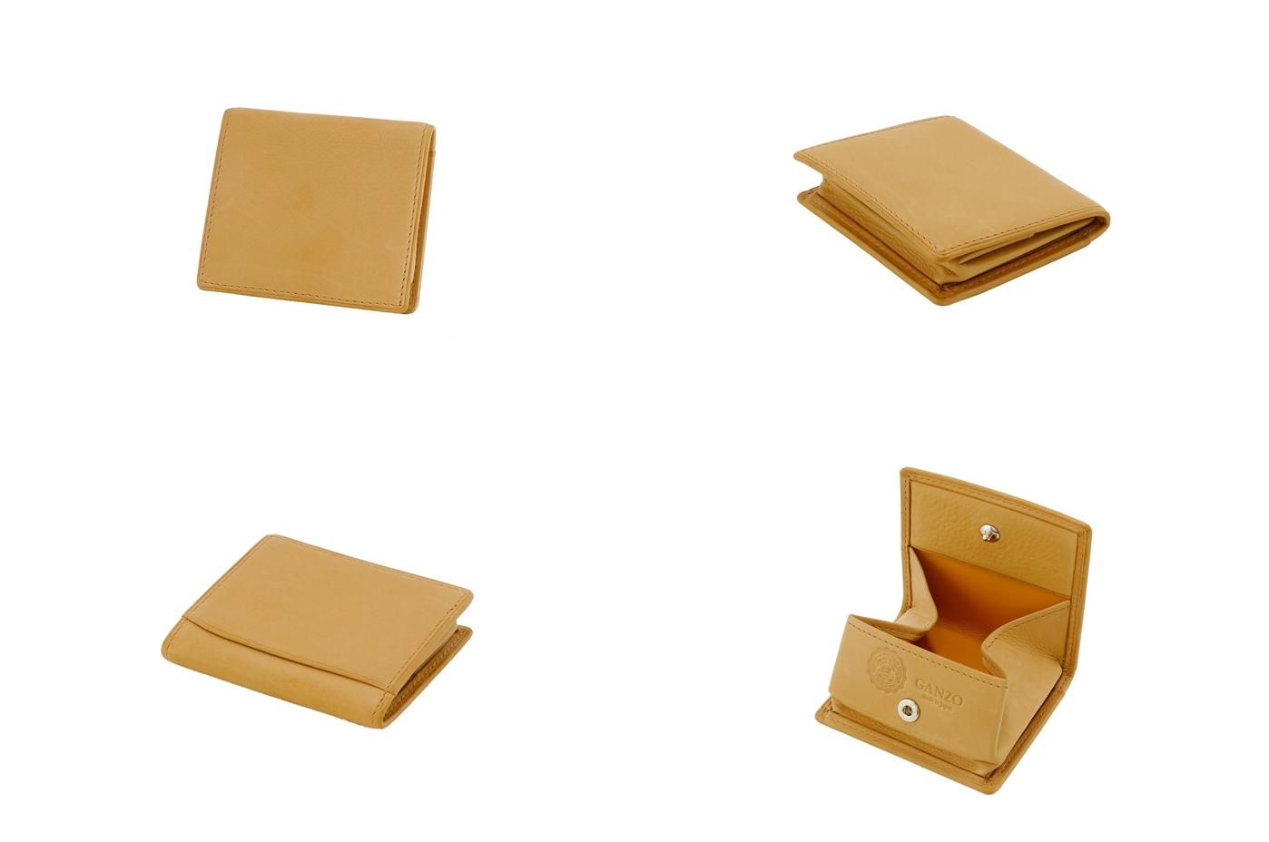 GANZO ガンゾ BABY CALF (ベビーカーフ)BOX小銭入れ ベージュ デザイン