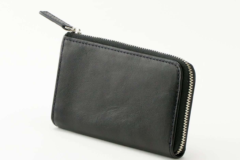マルチウォレット(コンパクト財布)ブラック Business Leather Factory(ビジネスレザーファクトリー)