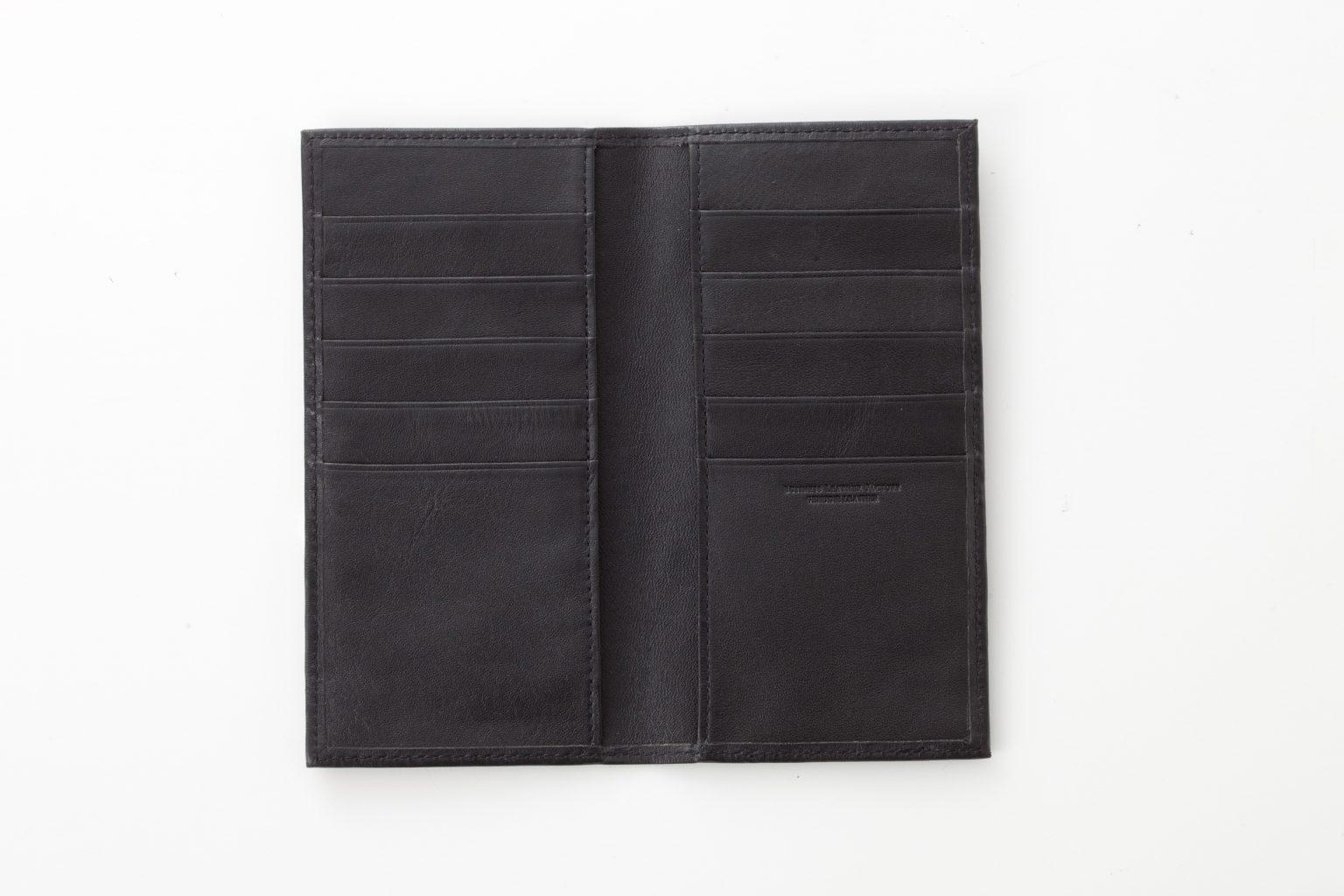 スリムカードホルダー ブラック Business Leather Factory(ビジネスレザーファクトリー)