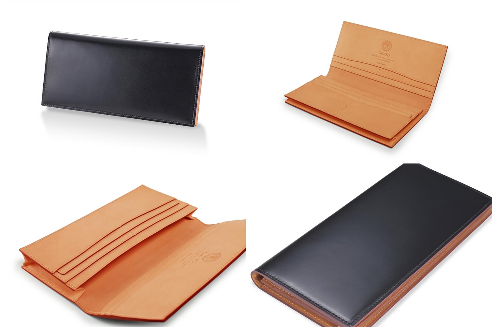 GANZO ガンゾ CORDOVAN (コードバン) 通しマチ長財布 デザイン